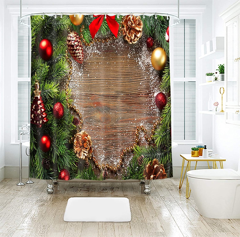 Daesar Christmas Detroit Mall Virginia Beach Mall Shower Waterproof Curtain Liner