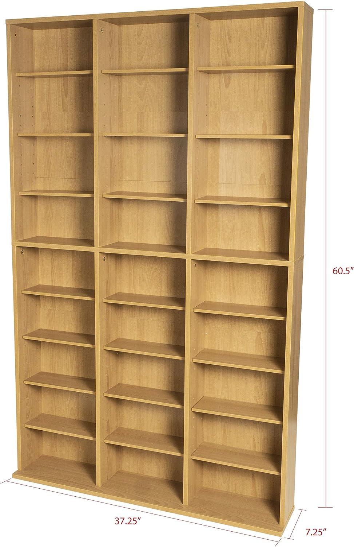 Atlantic Oskar Adjustable Media Cabinet - Milwaukee Ranking TOP3 Mall Holds DVD CDs 360 756