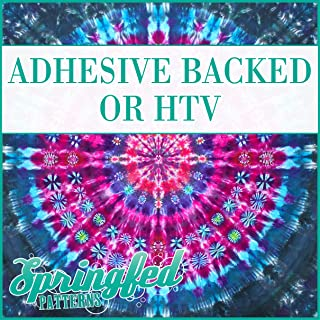 MANDALA TIE-DYE Pattern #1 Heat Transfer or Adhesive Vinyl CHOOSE YOUR SIZE! Mandala Pattern