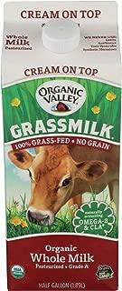 Organic Valley, Grass Milk Whole Non Homogenized, 64 Ounce