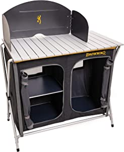 Browning Camping Basecamp Cook Station, Black/Silver, One Size
