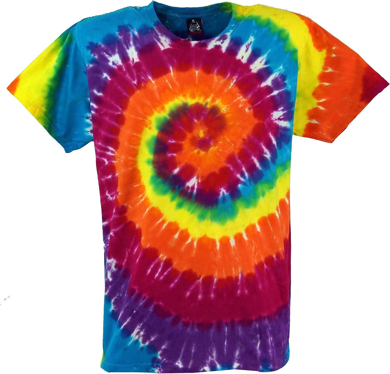 GURU-SHOP, Camiseta Rainbow Batik, Camiseta Manga ...