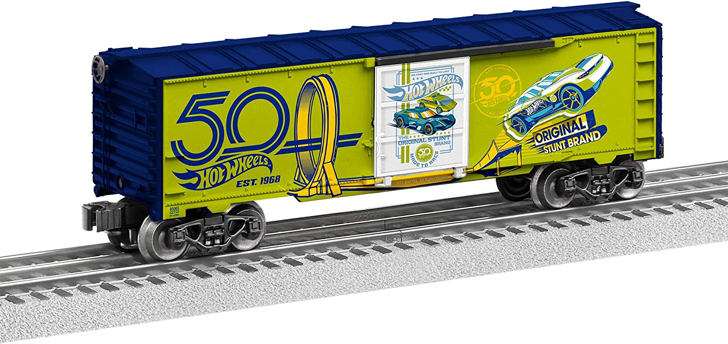 Lionel 685065 Hot Wheels 50th Max 68% OFF Boxcar Green Gauge O Super sale period limited Anniversary
