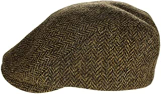 Irish Touring Cap Extended Brim Irish Tweed Formfitting Cap Handcrafted in Ireland