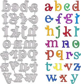 OOTSR Dies de Decoupe Scrapbooking Alphabet, Matrice de decoupe en Métal Découpes en Acier au Carbone, Matrice de Découpe ...
