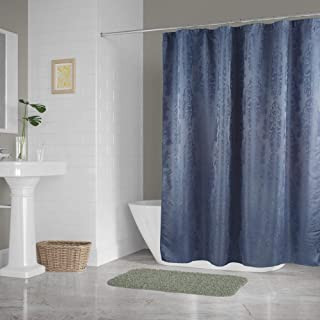 DII Oceanique Shower Curtain 100% Polyester Damask Stone Blue