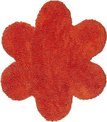 Thedecofactory 700701 Daisy Orange Rug, 70 x 70 x 1.5 cm, Polyamide
