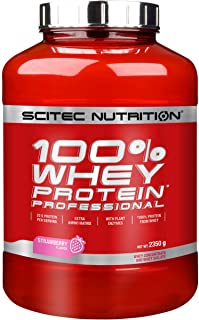 Scitec Nutrition 100% Whey Protein Professional Proteína con Sabor de Fresa - 2350 g