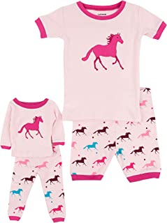 Shorts Kids & Toddler Pajamas Matching Doll & Girls Pajamas 100% Cotton Owl Pjs Set (2-10 Years) Fits American Girl