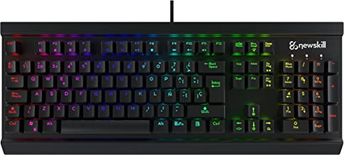 Newskill Thanatos Switch Brown - Teclado mecánico gaming (estructura metálica, efectos RGB), color negro