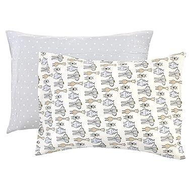 Hudson Baby Unisex Baby and Toddler Cotton Toddler Pillow Case, Royal Safari, One Size