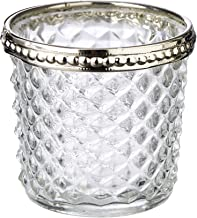 LaVida EE7549-6 Clear Croix Votive Candle Holders