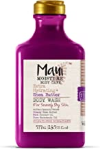 Maui Moisture Shea Butter Body Wash 19.5 Ounce Moisturizing Body Wash Formulated for Dry Skin Normal Skin Combination Skin, with Aloe Vera Juice and Coconut Water, Silicone Free