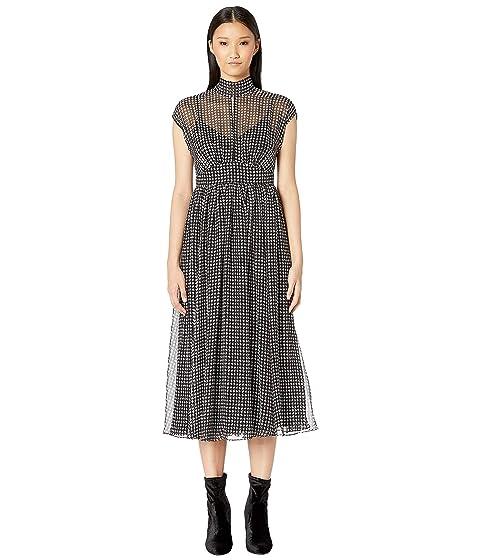 Kate Spade New York Dashing Beauty Houndstooth Chiffon Dress