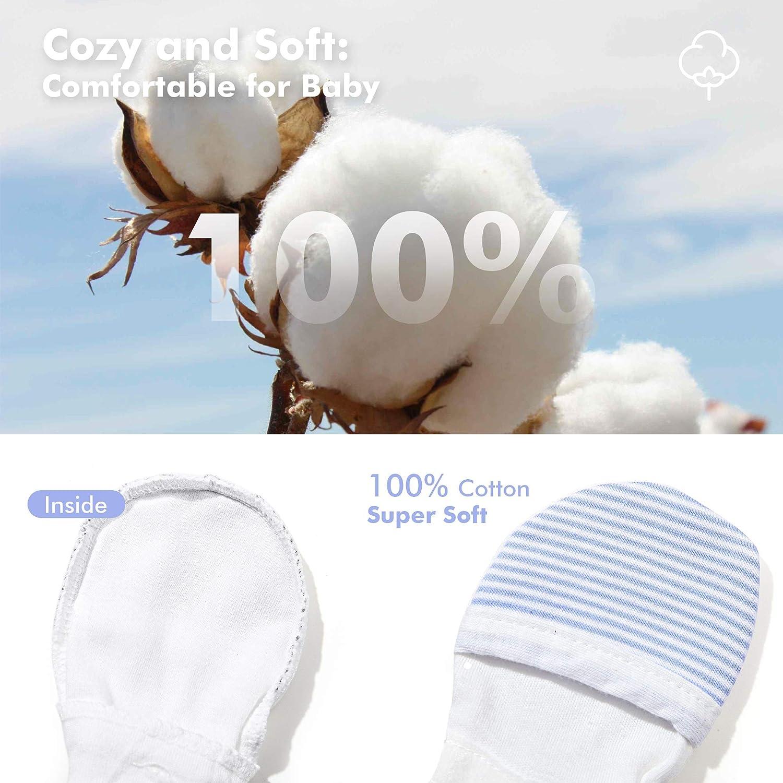 Adjustable Newborn Baby Mittens 100/% Cotton HAPIU Baby No Scratch Mittens