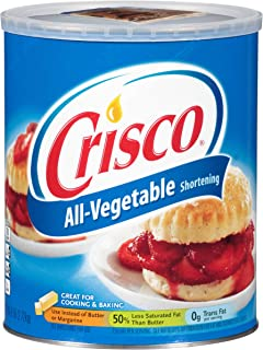 Crisco Shortening All Vegetable 6 LB (Pack of 6)