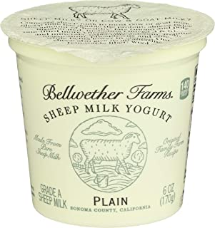 Bellwether Farms, Sheep Milk Yogurt, Plain, 6 oz