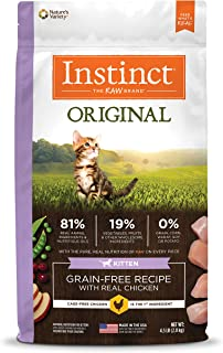 Instinct Grain Free Kitten Food, Original Kitten Recipe Natural Dry Cat Food or Wet Cat Food
