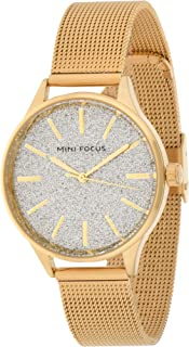 Mini Focus Womens Quartz Watch, Analog Display and Stainless Steel Strap - MF0044L.01