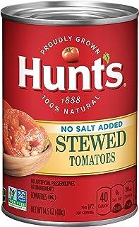 Hunt's Stewed Tomatoes No Salt Added, 14.5 oz, 12 Pack