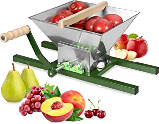 Best Choice Products 7-Liter Stainless Steel Manual Fruit and Apple Crusher Juicer Press Accessory Equipment w/Side Supports, Crank Handle
