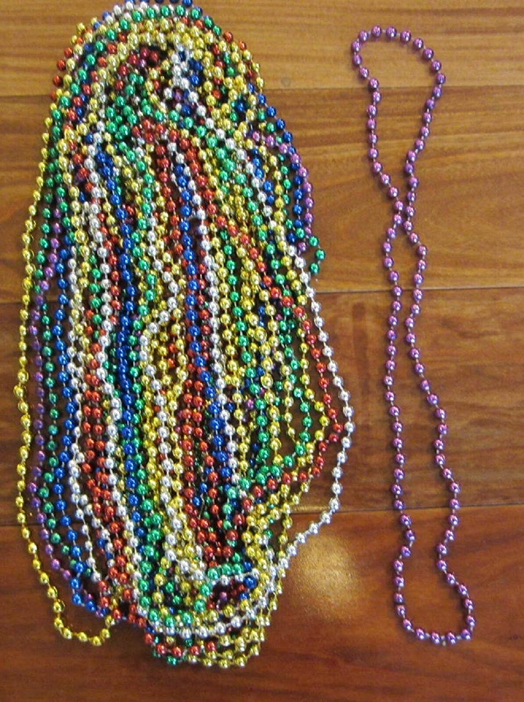 40 Mardi GRAS Beads Necklaces Motorcycle Bike Rally Throw Bead B