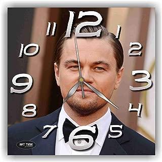 shyleonmagaz Exclusive Clock Leonardo Dicaprio (Actor) – Unique Item for Home and Office, Original Present for Every Occasion.