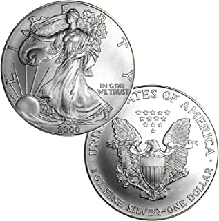 2000 American Silver Eagle $1 Brilliant Uncirculated US Mint
