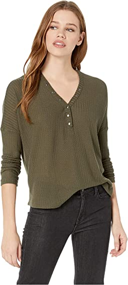 Ready Layer One Waffle Knit Henley Top