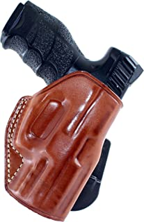 Leather Paddle (OWB) Holster Open TOP for Heckler & KOCH, H&K VP9SK 9mm 3.39''Barrel R/H Draw Brown Color #1268#