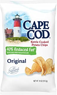Cape Cod 40% Reduced Fat Kettle Cooked Potato Chips, 18 oz. (pack of 2)
