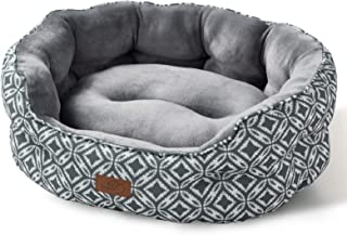 Bedsure Small Dog Bed & Cat Bed, Round Pet Beds for...
