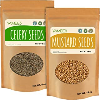 Sponsored Ad - Yamees Celery Seed and Mustard Seeds - Bulk Spices and Seasoning - Whole Celery Seeds and Mustard