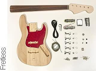 DIY Electric Bass Guitar Kit - Fretless 5 String J Bass Build Your Own