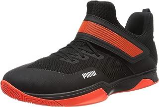 Puma Unisex's Rise Xt 3 Black-Silver-nrgy Red Badminton Shoes