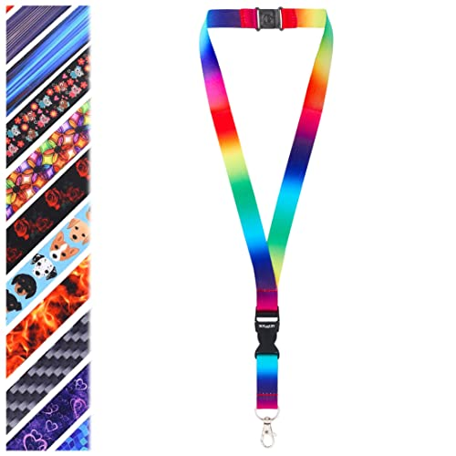 Rolseley Lanyard Neck Strap RAINBOW Pattern With Metal Clip And Safety  Breakaway 7a93666ac