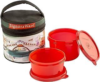 صندوق غداء جينكس من سيجنوروير فينيس مع مجموعة حقيبة ، قطعتين احمر داكن
