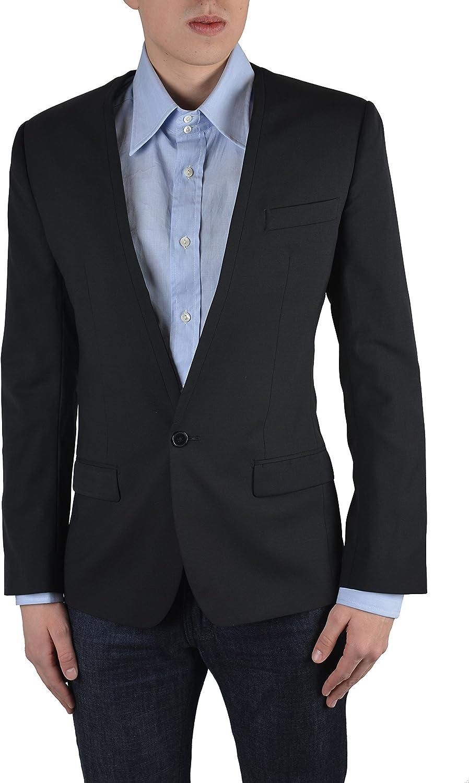 Dolce & Gabbana Men's Black Silk One Button Blazer Size US 38 IT 48