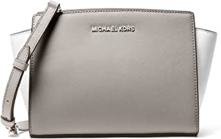 MICHAEL Michael Kors Selma Medium Messenger Bag (Pearl Grey/White/Alum)