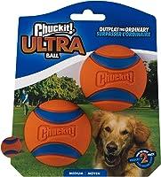 Chuckit! 17001 Kauczukowa Piłka dla Psów, M/Ø 6.5 cm, Pomarańczowy/Niebieski