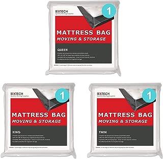 Xtech Mattress Bags for Moving Supplies Bundle: 1 King Mattress Bag, 1 Queen Mattress Storage Bag, 1 Twin Sealable Matress Bed Storage Protection Bag.