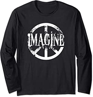 Distracted peace sign imagine Long Sleeve T-Shirt