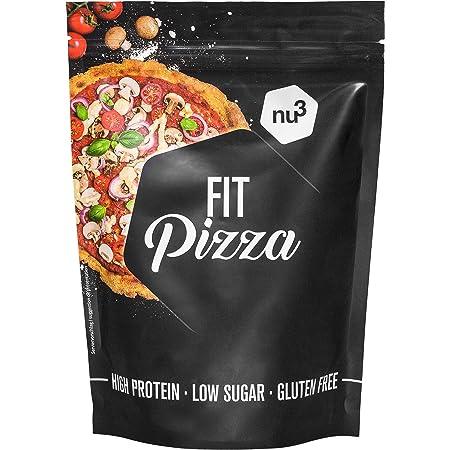 nu3 Fit Pizza baja en carbohidratos - 270 g de harina para pizza proteica sin levadura - 100% pizza vegana y libre de gluten - 15g de proteína por ...