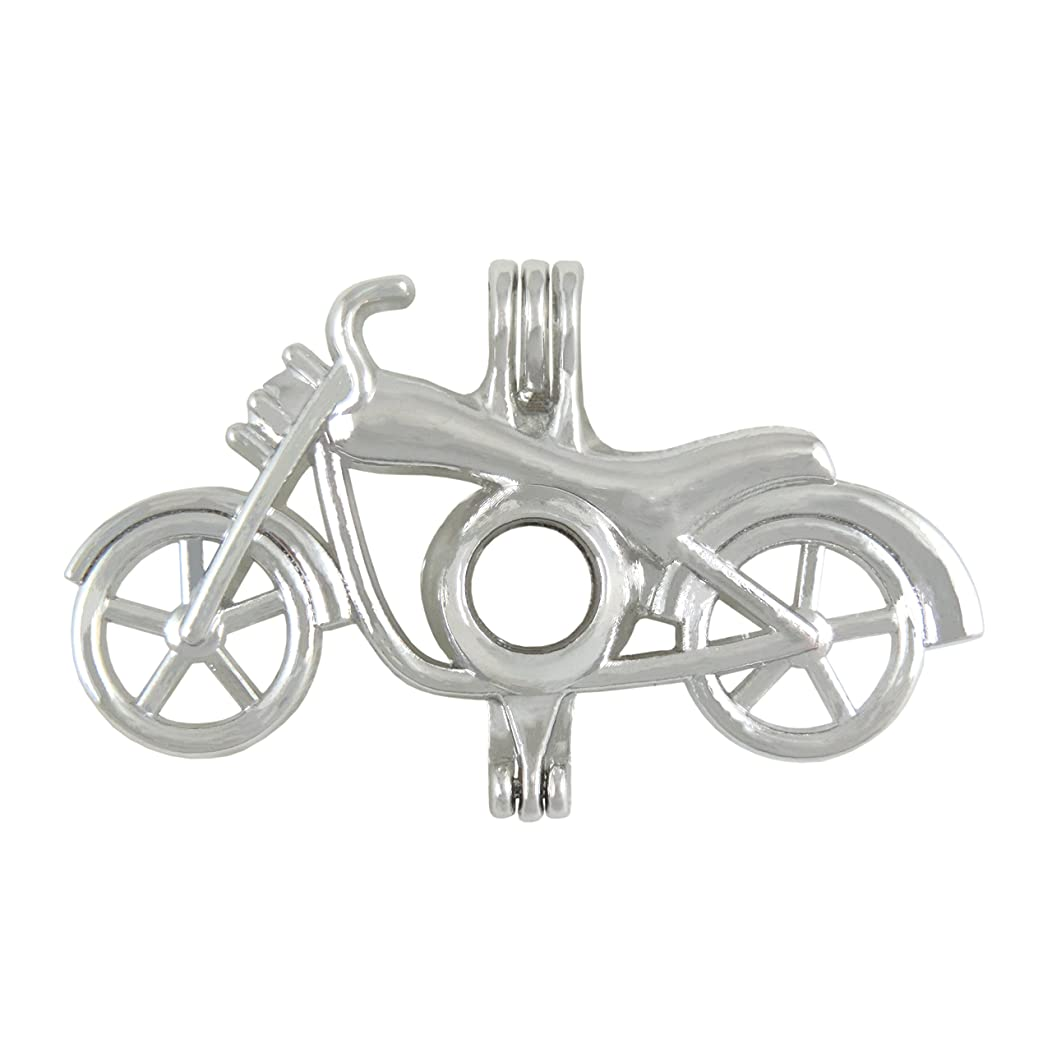 10 pcs Motorcycle Pendant Pearl Beads Cage Locket Charms Essential Oil Aromatherapy Diffuser Pendant Necklace Holiday gifts Jewelry Making Supplies