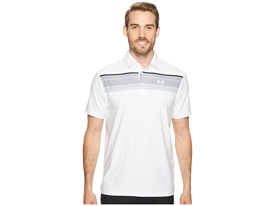 Under Armour Golf UA Playoff Polo (White/Overcast Gray/Rhino Gray) Men