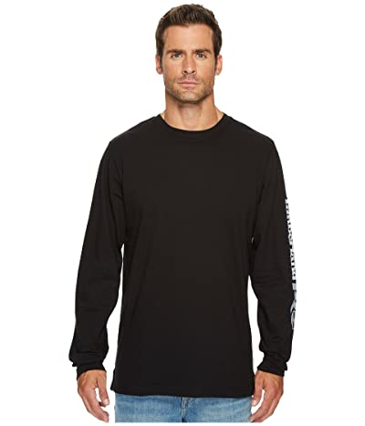 Timberland PRO Base Plate Blended Long Sleeve T-Shirt with Logo (Jet Black) Men