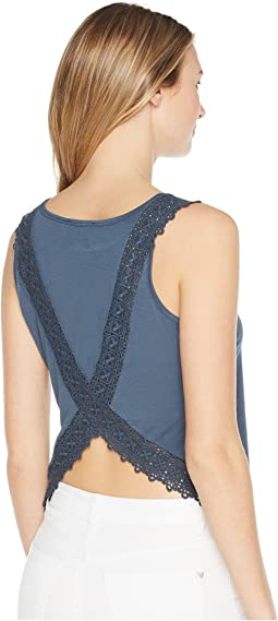 Run Away with Me Lace Back Tank Top