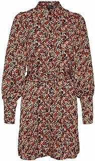 فستان ريبا بنمط قميص طويل الأكمام للنساء من فيرو مودا