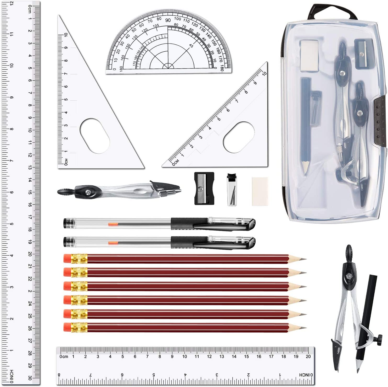 Leinuosen overseas Math Compass for Geometry Set 20 Sale SALE% OFF Piece Student Geometr