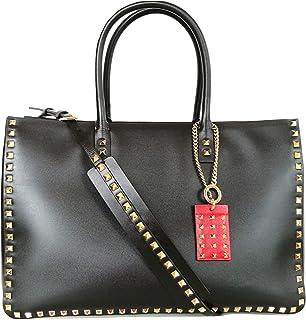 Valentino Tot Stud Damen Handtasche + Lederriemen SW0B0F08BZW 0NO schwarz